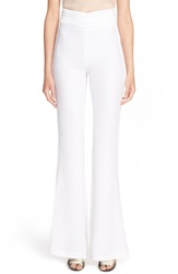 Rachel Zoe 'Jolee' High Waist Flare Tuxedo Pants Long Ivory