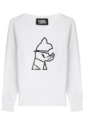 Karl Lagerfeld Graphic Statement Sweatshirt White