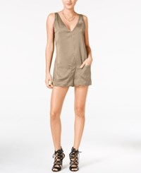 Guess Raja Sleeveless V Neck Romper Rugby Tan