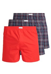 Pier One Tartan 3 Pack Boxer Shorts Red Navy