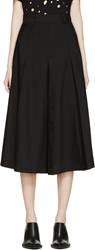 Each X Other Black Cropped Wide Leg Trousers