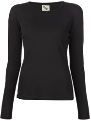 321 Long Sleeve T Shirt Black