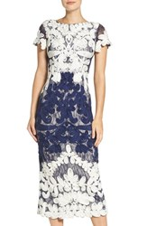 Js Collections Women's Soutache Lace Midi Dress