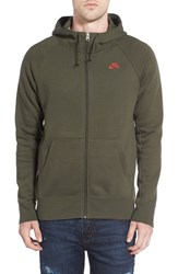Nike Men's Sb 'Icon' Zip Hoodie Green