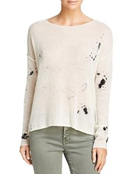 360 Sweater Paint Splatter Skull Back Cashmere Multi