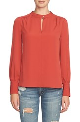 1.State Women's Blouson Sleeve Crepe Blouse Maple Leaf