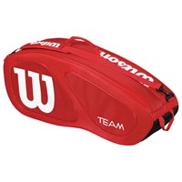 Wilson Team Collection 6 Pack Tennis Bag Red White