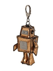 Mcm Robot Coated Canvas Bag Charm