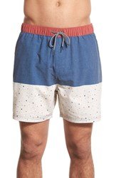 Katin Men's 'Fling Volley' Swim Trunks Blue White