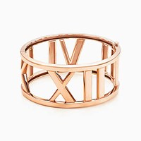Tiffany And Co. Atlas Wide Open Bangle In 18K Rose Gold Medium. No Gemstone