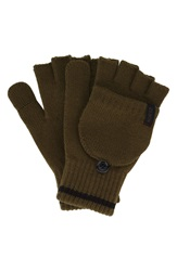 A. Kurtz 'Deck' Convertible Knit Gloves Military