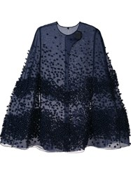Roksanda Ilincic Textured Cape Blue