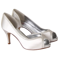 Rainbow Club Carrie Satin Court Shoes Ivory