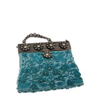 Selection Privee Muse Minaudiere Clutch Turquoise