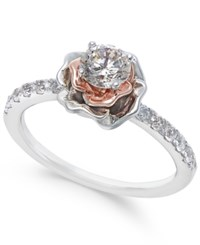 Macy's Diamond Bouquet Engagement Ring 3 4 Ct. T.W. In 14K White And Rose Gold Two Tone