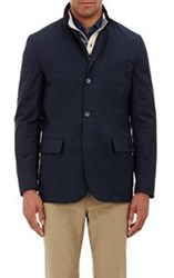 Luciano Barbera Twill Jacket Blue