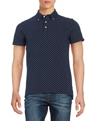 Brooks Brothers Patterned Polo Blue