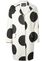 Boutique Moschino Polka Dot Coat White