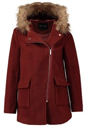 New Look Milly Short Coat Chestnut Brown