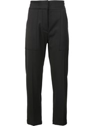 Adam By Adam Lippes Patch Pocket Cropped Trousers Black
