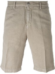 Massimo Alba Pleated Chino Shorts Nude And Neutrals