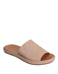 Corso Como Besti Leather Slide Sandals Nude