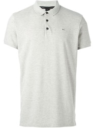 Marc By Marc Jacobs Embroidered Chest Logo Polo Shirt Grey