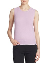 Lord And Taylor Cashmere Crewneck Shell Lavender