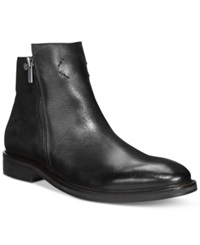 Guess Jarret Side Zip Boots Men's Shoes Black