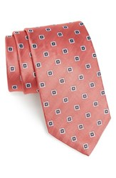 J.Z. Richards Men's Geometric Silk Tie Coral