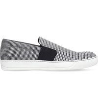 Lanvin Houndstooth Pattern Trainers Blk Grey