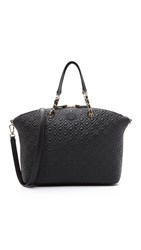 Tory Burch Marion Quilted Slouchy Satchel Black