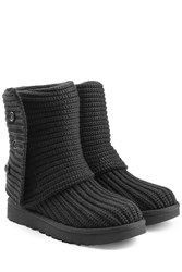 Ugg Australia Ribbed Wool Boots Black
