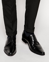 Frank Wright Leather Derby Shoes Black