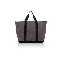Barneys New York Flannel Tote Gray
