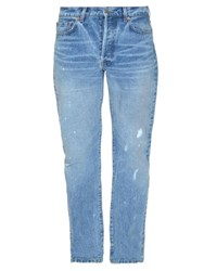 Raey Relaxed Fit Distressed Denim Jeans Indigo