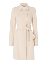 Hugo Boss Canika1 Belted Luxe Wool Coat Beige