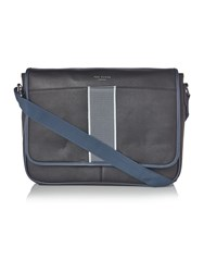 Ted Baker Webster Striped Webbing Messenger Bag Black