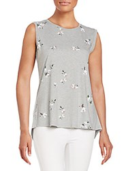 French Connection Blossom Jersey Tank Top Grey Melange