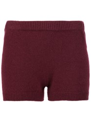The Row Elastic Waistband Knitted Shorts Red