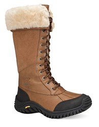 Ugg Tall Adirondack Shearling Boots Brown Leather