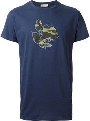 Christian Dior Dior Homme Camouflage Rose T Shirt Blue
