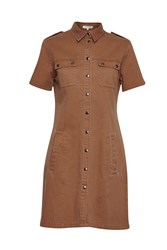 Great Plains Sarari Cotton Cargo Dress Brown
