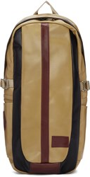 Master Piece Co Beige Leather Over Backpack