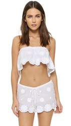 Miguelina Callie Daisy Embroidered Top Pure White