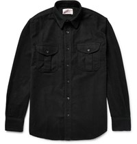 Filson Seattle Cotton Moleskin Overshirt Black