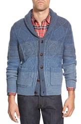 Men's Wallin And Bros. 'Ellsworth' Shawl Collar Cable Knit Cardigan