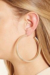 Forever 21 Spiral Etched Hoop Earrings