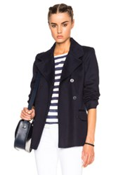 A.P.C. Cousteau Peacoat In Blue