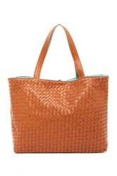 Urban Expressions Woven Reversible Tote Brown